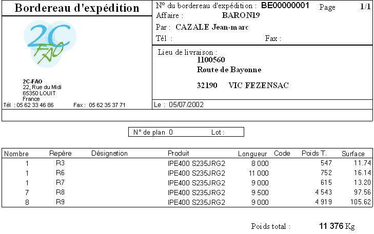 logiciel de gestion de production - 2c-fao