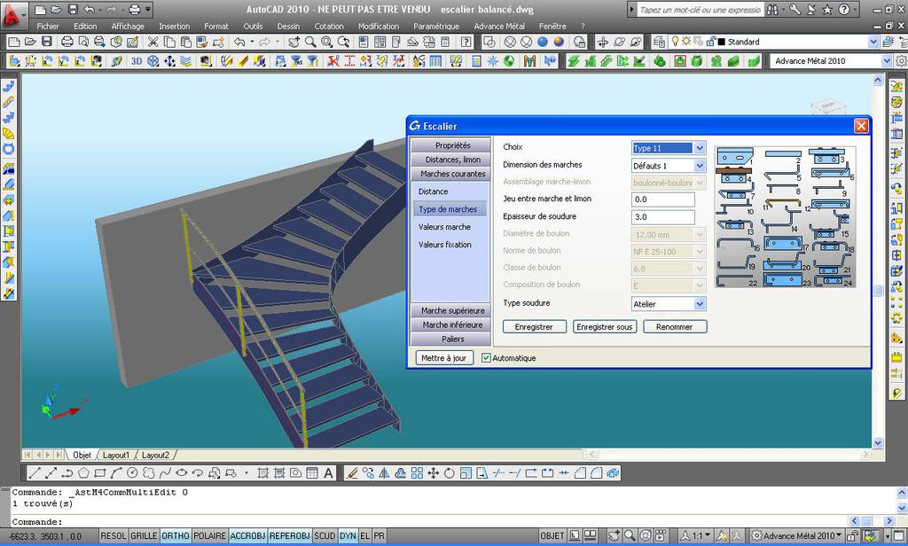 Logiciel De Cao 2d 3d De Construction M Tallique Graitec