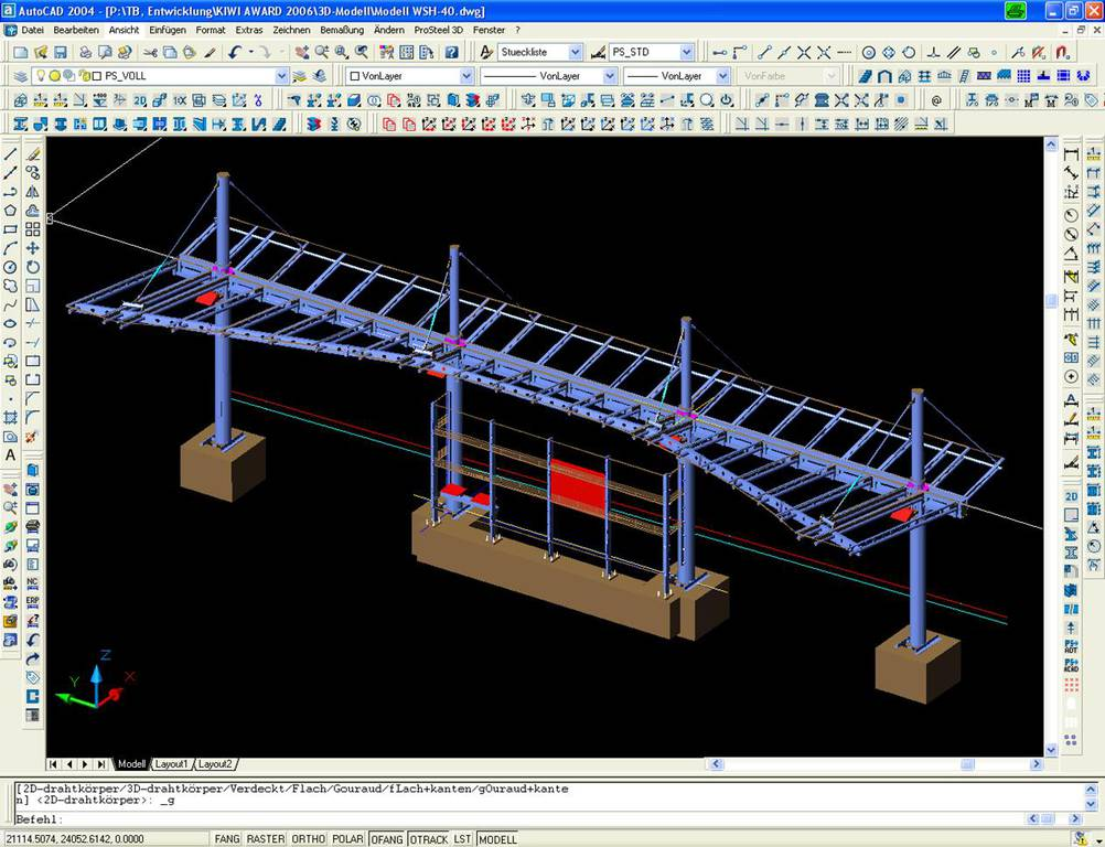 Logiciel de cao 2d 3d de construction m tallique bentley systems france p - Logiciel charpente metallique ...